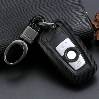 Carbon Fiber TPU Car Remote Key Case Cover For BMW 1 2 3 4 5 6 7 Series X1 X3 X4 X5 X6 F30 F34 F10 F07 F20 G30 F15 F16 image