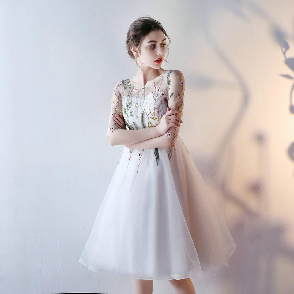 43b9206be7 Fast Shipping Cheap Women Ivory Short Prom Dresses 2019 Sexy Black ...