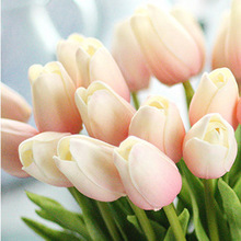 10pcs Artificial Tulip Flowers for Wedding Decoration with Rose Sweet Fragrance Newly Party Fake Flower Decorations