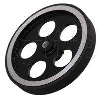 Rueda de medición de codificador rotatorio de caucho de aluminio Industrial de 300x6mm|Poleas| |  -