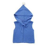 MUQGEW New Fashion Newborn Baby Boys Girls Clothes Sleeveless Solid Hooded Knitted Tops Sleeveless Blouese Clothes