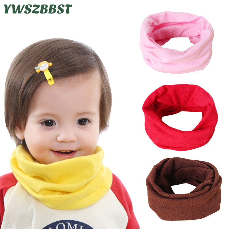 New Fashion Cotton Baby Girls Scarf Autumn Winter Baby Boys Scarf Kids O Ring Collar Children Scarves Magic Neckerchief