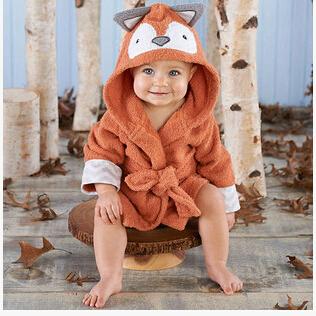 Venta al por menor Del Bebé zoológico albornoz/toalla con capucha/de dibujos animados de modelado albornoz del bebé albornoz