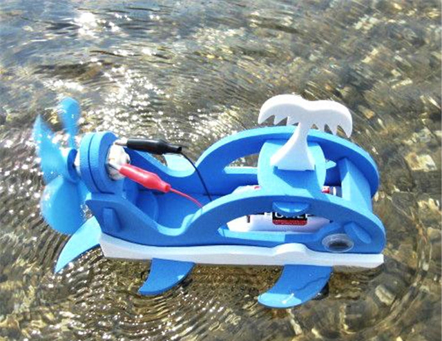 DIY electric orcas robot toy car assembly model children PUZ To assemble toy car