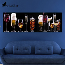 Modular Pictures 1 panel Sparkling wine Champagne Whisky Beer Bar Liqueur Poster Wall Art Paintings