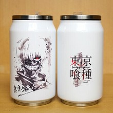 Tokyo ghouls vacuum cup Stainless steel cup Christmas Creative cans Cartoon cup cosplay