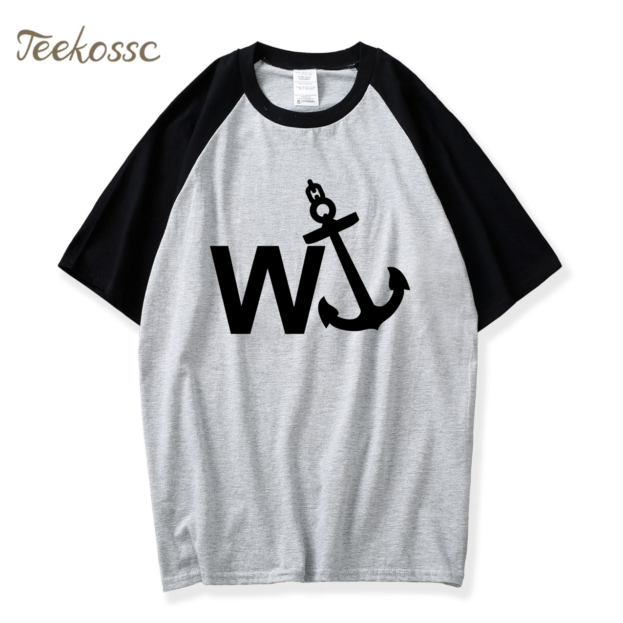 W'Anker Funny Anchor Rude Comedy Retro Gift Mens Cotton Short Sleeve T-Shirt 2018 New Summer Raglan Tshirt O Neck Men Shirts Top