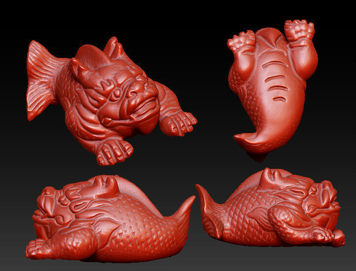 3D model for cnc 3D carved figure sculpture machine in STL file format The Chinese culture,Dragonfish 12pcs 3d model for cnc 3d carved figure sculpture machine in stl file format the chinese culture chinese zodiac