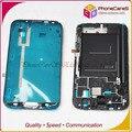 DHL Бесплатная доставка. Для Samsung Galaxy Note2 N7100 ЖК-Экран Держатель Середина Рамка Рамка Корпуса со шлейфом и дома кнопка, 50 шт./лот