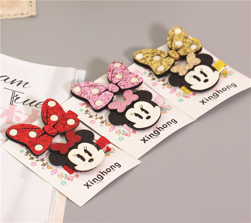 1 set 2017 kawaii bowknot girls kids hair clips bows pin haar accessories for children headdress hairpin hair barrettes hairclip minnie mouse ears baby girl hair clip children clips accessories kids cute hairclip for girls hairpins hair clips pins menina
