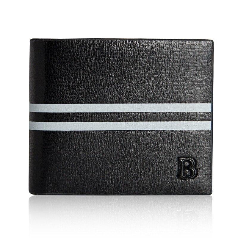 Baellerry Men Wallets Short Style Black European Fashion Cross Vertical Section Of Multicard Position Card Holder Purse Wallet