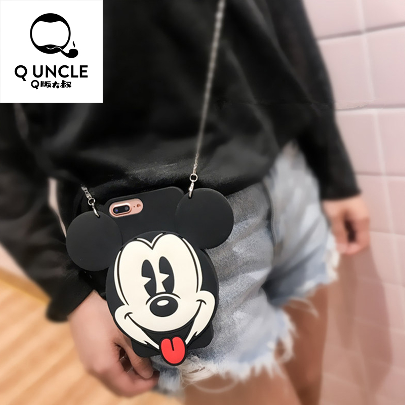 Q UNCLE Cute 3D Silicone Cartoon Mickey Minnie Soft Phone Co