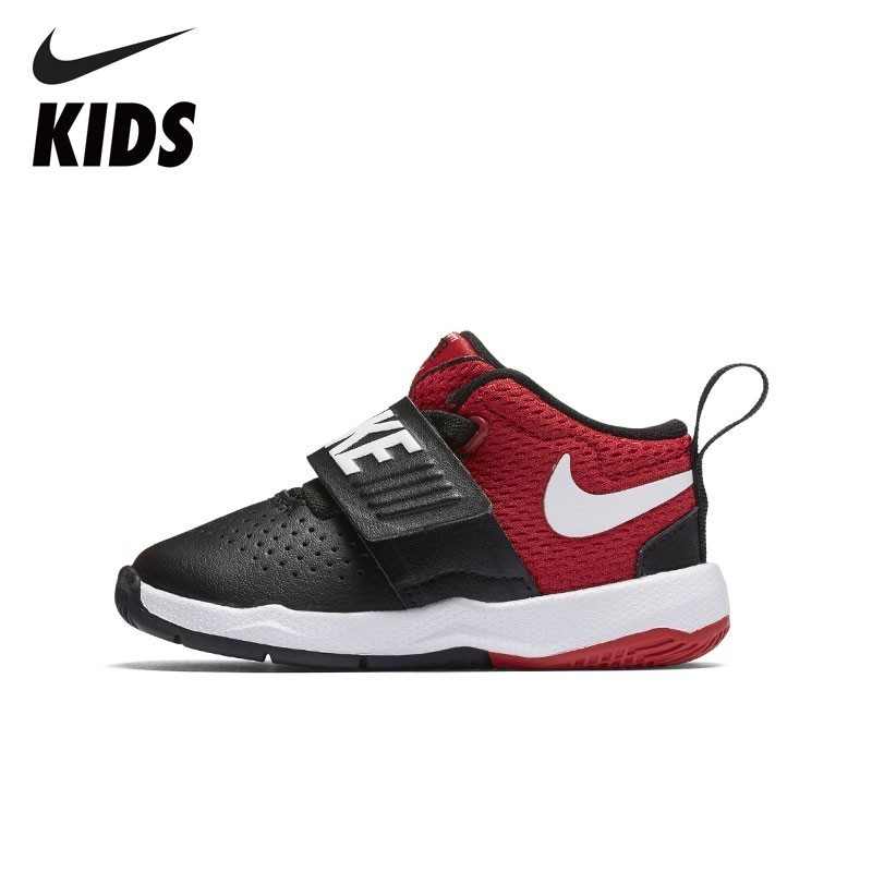 NIKE TEAM HUSTLE D 8 New Arrival Boys And Girls Toddler Basketball Kid's Running Shoes Breathable 881942 кроссовки nike team hustle d 8 gs basketball shoe boys 881941 301