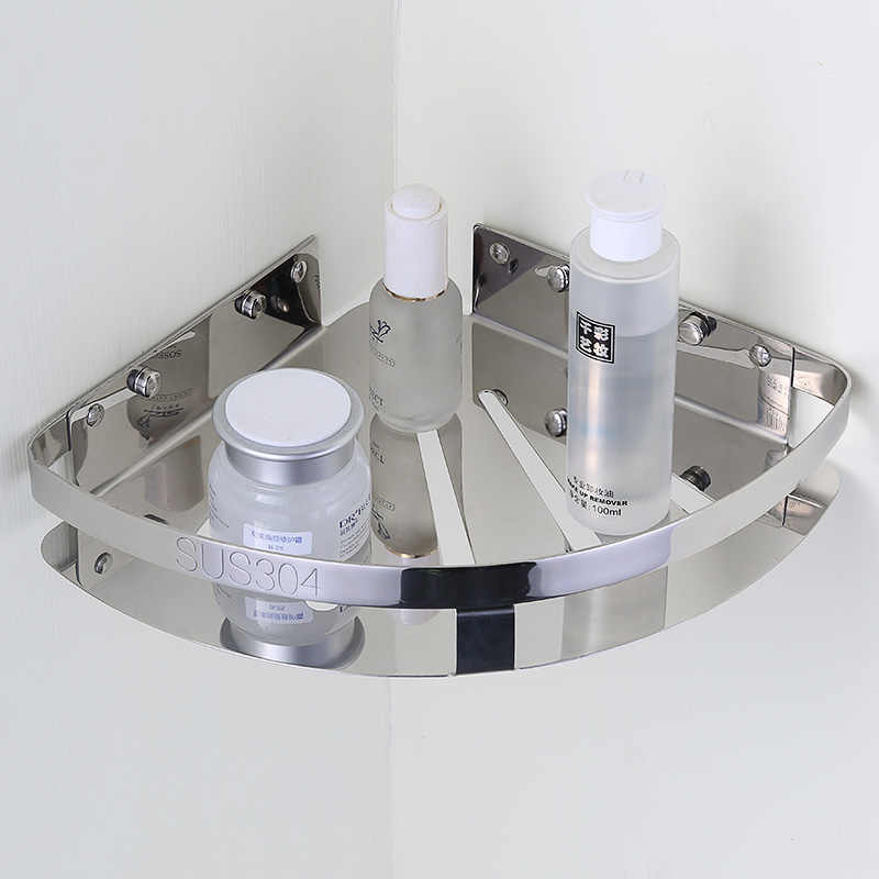 Auswind Modern trwała półka narożna ze stali nierdzewnej 304 1-3 warstwy srebrny polski stojak ścienny zestaw sprzętu łazienkowego