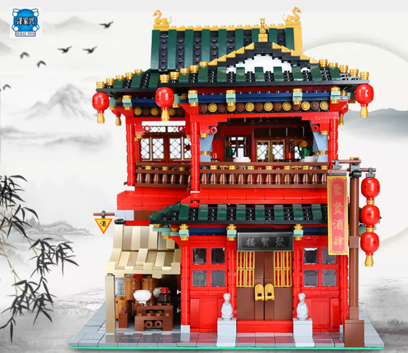 3267Pcs MOC Creative Series The Beautiful Tavern Set Children Educational Xingbao Building Blocks Bricks Figures Toys Model Gift in stock new xingbao 01101 the creative moc chinese architecture series children educational building blocks bricks toys model