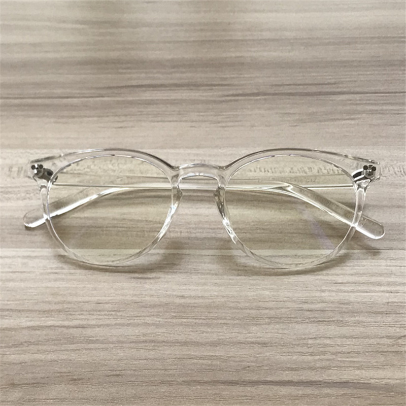 YOOSKE Vintage Clear Optical Glasses Frame Women Men TR90 Clear Lens Eyeglasses Trendy Transparent Eyewear Frames