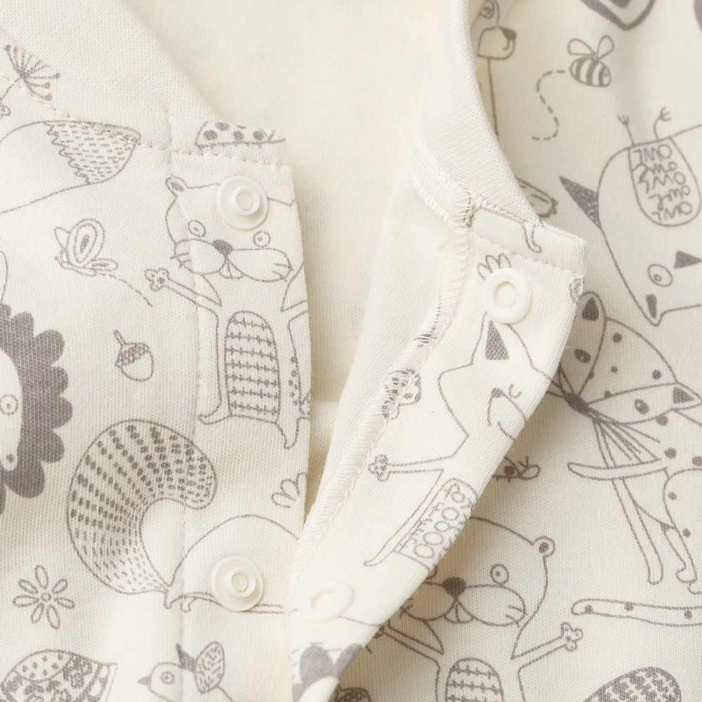 COBROO 100% Cotton Bé Bộ Áo Liền Quần với Side Snap Dễ Thương Mô Hình Động Vật Trẻ Sơ Sinh Bé Coverall 0-12 Tháng