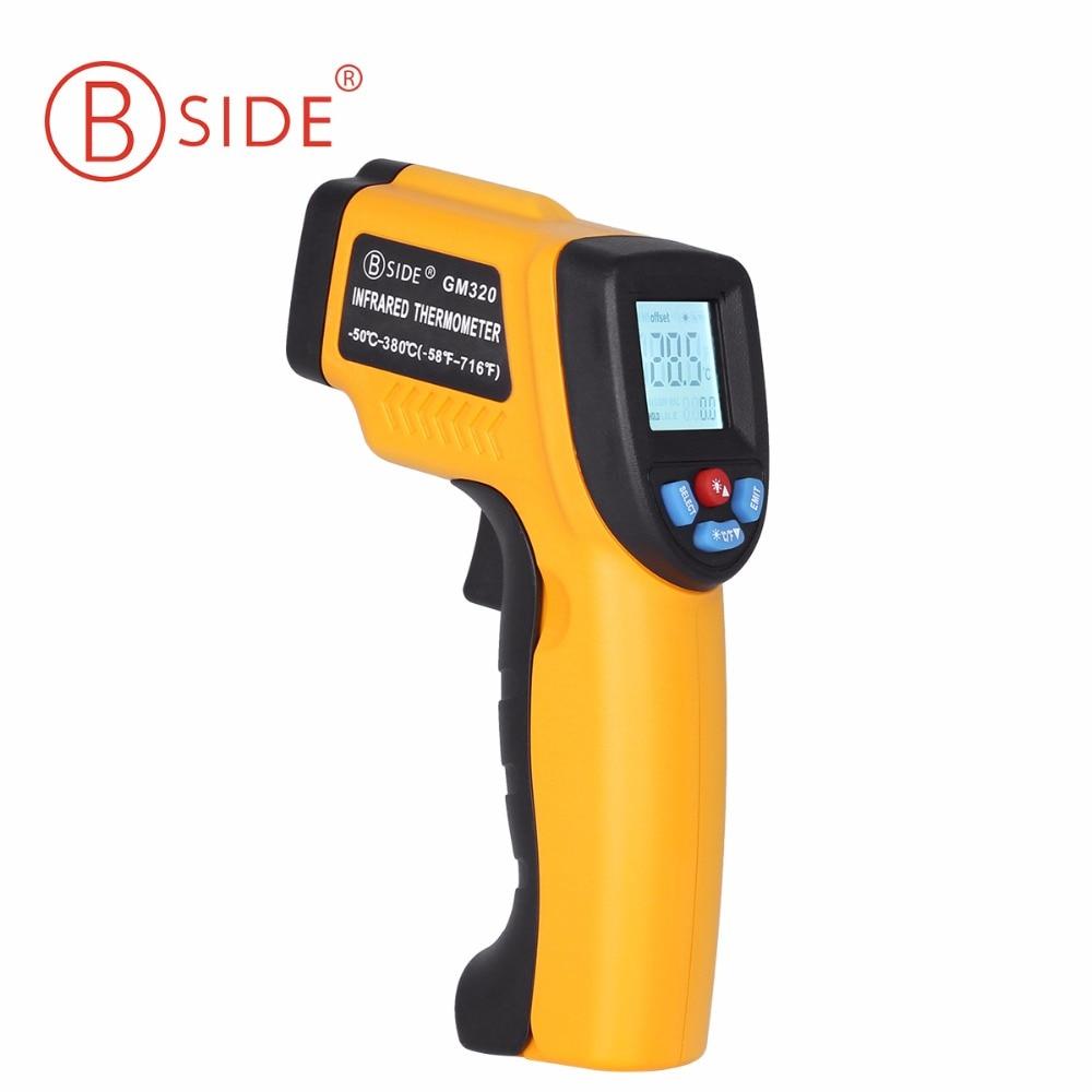 BSIDE GM320 láser Digital sin contacto termómetro infrarrojo pantalla LCD con C/F selección pistola de infrarrojos para la Casa de la industria