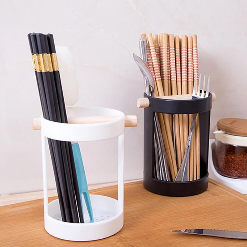 HIFUAR Storage Racks black and white simple Kitchen Drain Tableware Cutlery Chopsticks Spoon Fork Cosmetic Storage Racks Holder