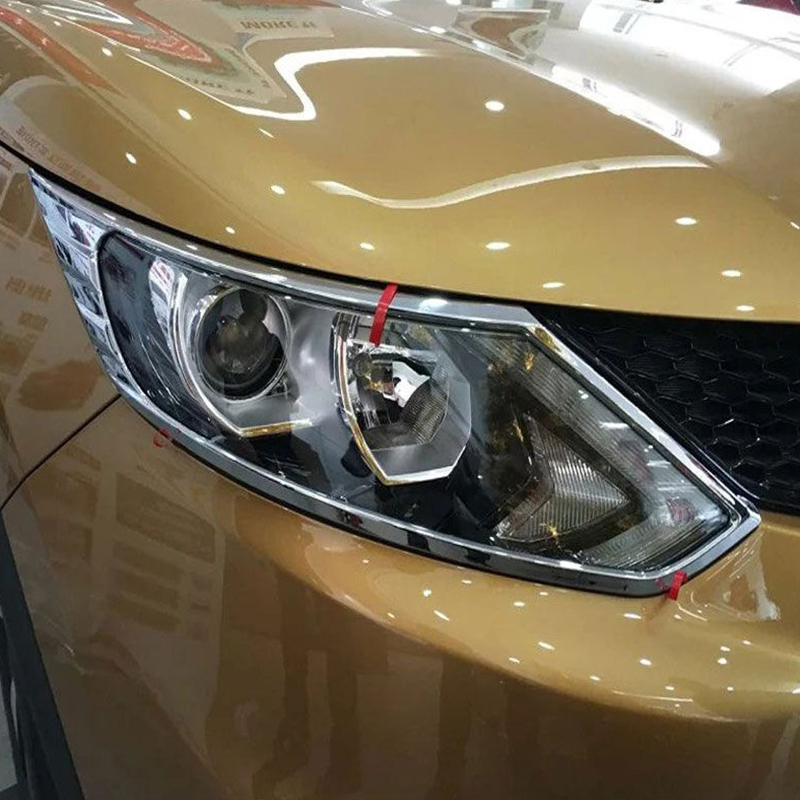 Pour Nissan Qashqai J11 2016 ABS Chrome Avant Head Light Lampe Cadre Décoration Couverture Garniture Accessoires De Voiture