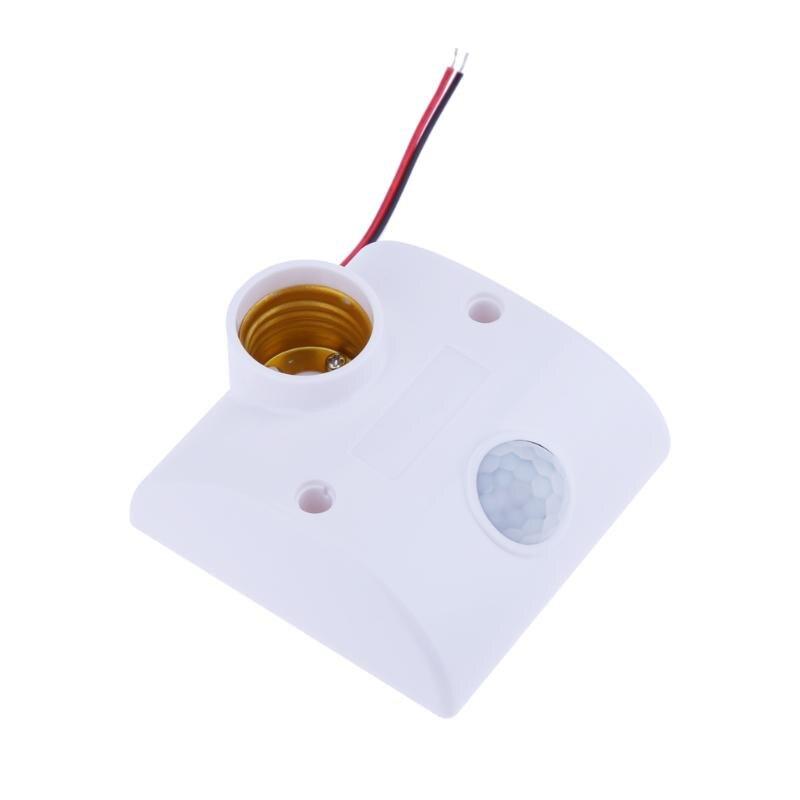 E27 Infrared Motion PIR Sensor Light Lamp Holder Switch Wall Light Lamp Base PIR Motion Detector for Outdoor Corridor Garden automatic motion sensor light switch outdoor infrared pir motion sensor detector switch ac90 250v for led light lamp