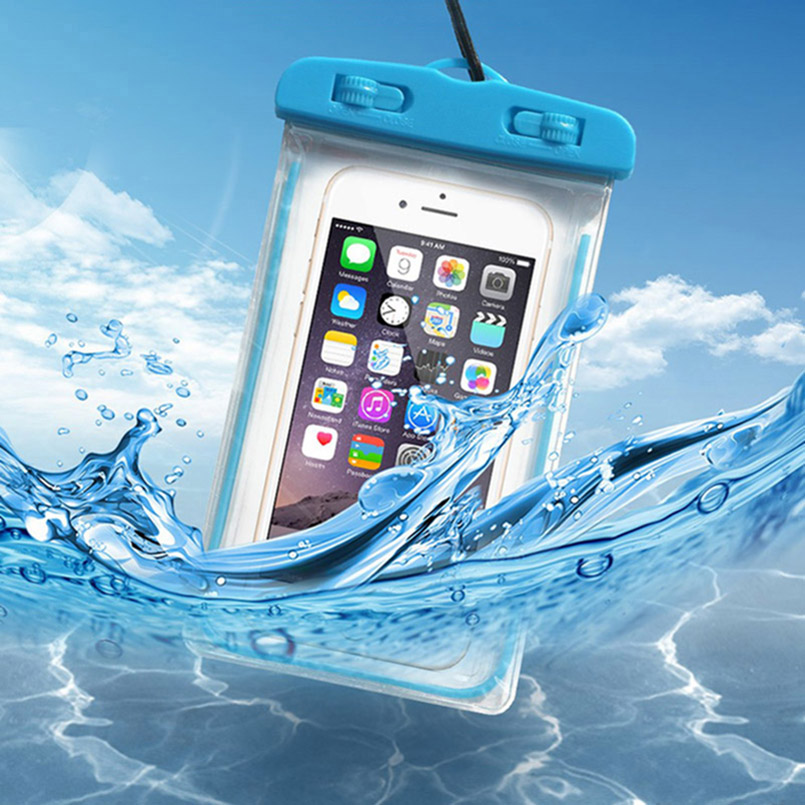 Universal Waterproof Phone Pouch For <font><b>Zenfone</b></font> <font><b>3</b></font> <font><b>Max</b></font> <font><b>ZC</b></font> ZC520 <font><b>520</b></font> 520TL <font><b>TL</b></font> Swimming Diving Transparent Bag Luminous Case image