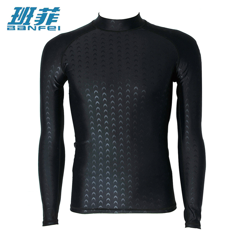 XXXL Plus Size Wetsuits Long Sleeve Swimwear Men Surfing Clothing Diving Suits For Men Competitive Shirt Swim Suit Tops Kitesurf plus size trendy batwing sleeve ink painting shirt