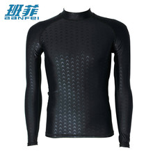 XXXL Plus Size Wetsuits Long Sleeve Swimwear Men Surfing Clothing Diving Suits For Men Competitive Shirt Swim Suit Tops Kitesurf