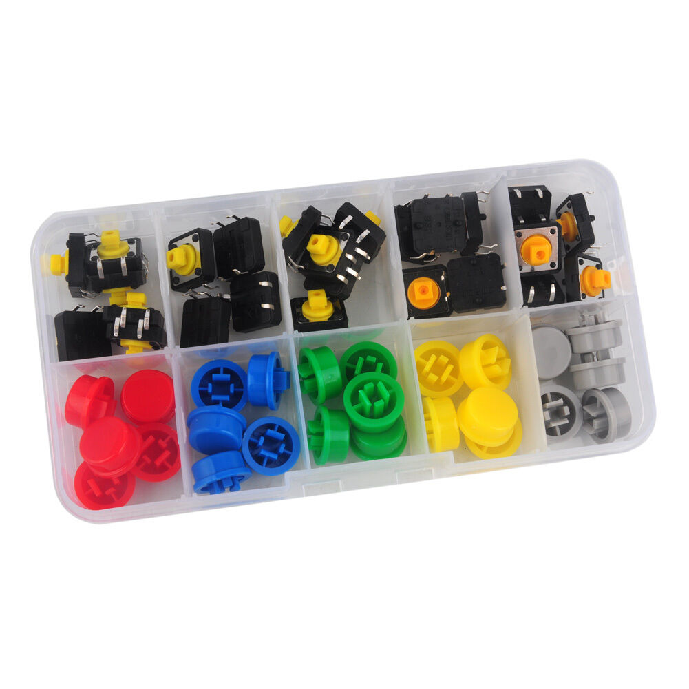 10K Resistor Tactile Push Button Removable For Breadboard Switch 30Pcs Set Replacement Useful Durable Electrical