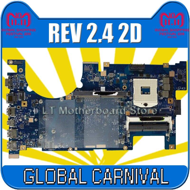 send board +G75VW Motherboard REV 2.4 2D For ASUS G75VW Laptop motherboard G75VW Mainboard G75VW Motherboard test 100% OK