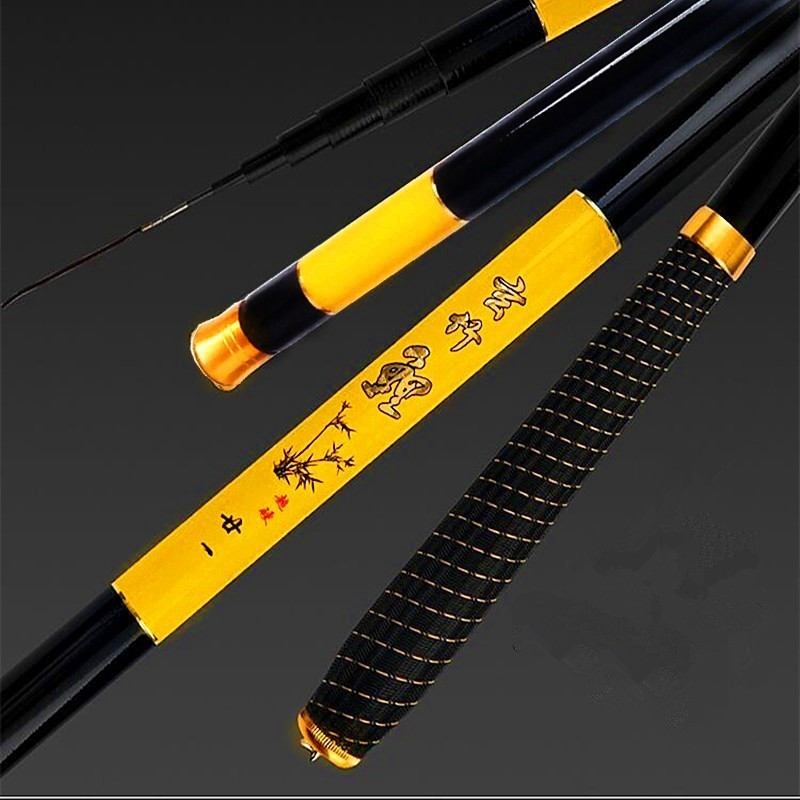 New Ultra hard Ultra lightweight Fishing Rod Hand Pole For Carbon Fiber Super Hard Ultra Light Carp Fishing Spinning Rod in Fishing Rods from Sports Entertainment