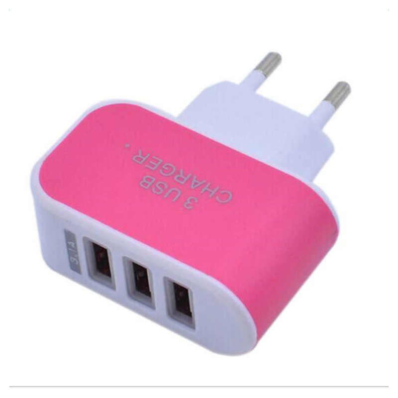 USB Charger 3 Port 5 V/2A Perjalanan USB Dinding Power Adapter EU Charger Pengisian untuk HUAWEI Mate 20 lite P20 USB Ponsel Charger