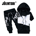 Jolintsai 2017 Summer Hoody Sportwear Men Hoodies Sweatshirt+Short Pants Tracksuit Men Sudaderas Hombre Mens Sweat Suit Set