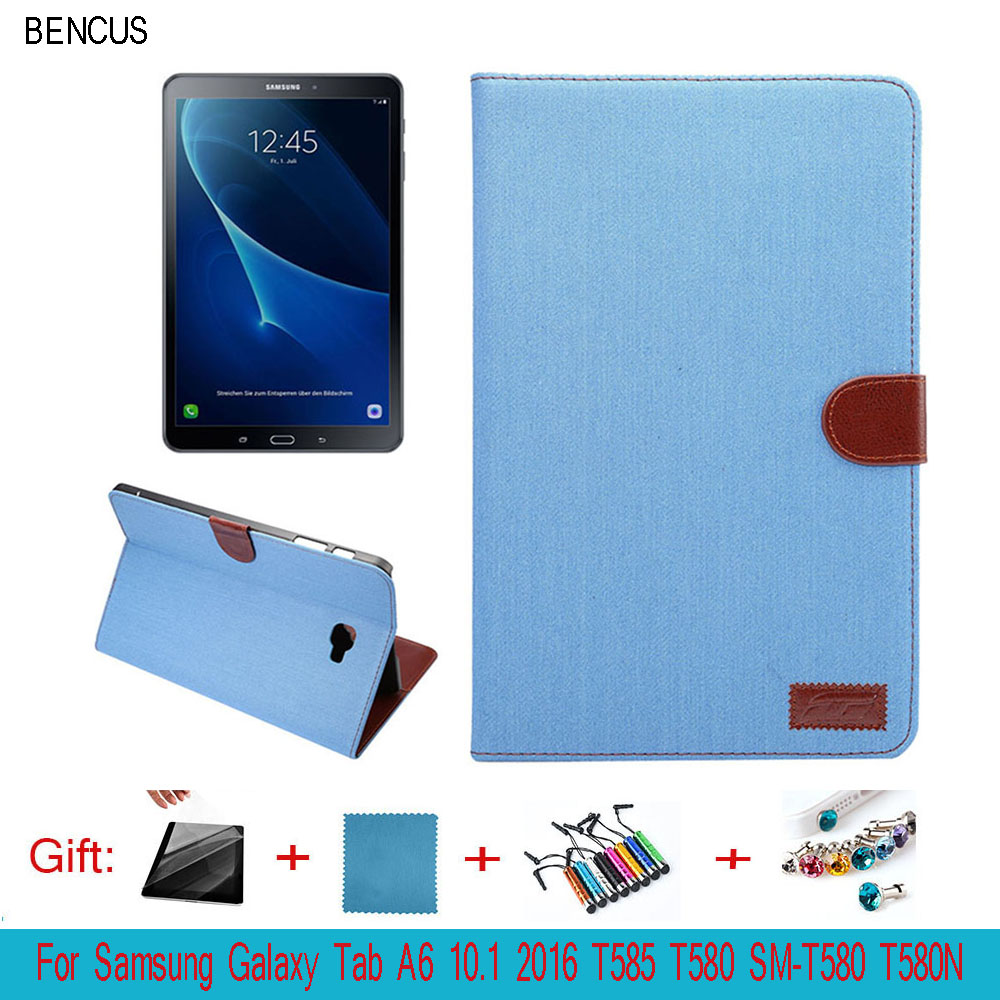 BENCUS For Samsung Galaxy Tab A 10.1 T580 T585 SM-T580 SM-T585 Tablet Retro Matte PU Leather Cover Shell Case with Stand