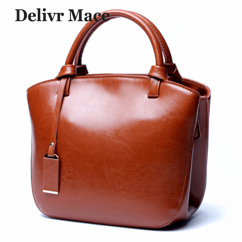 Brown Real Leather Ladies Bags Women Handbags 2018 Luxury Designer Small Shoulder Cross Bag Female Cow Genuine Leather Tote Bag 2018 new women fashion genuine cow leather luxury ol style handbags female brand shoulder bag casual tote cross body bag