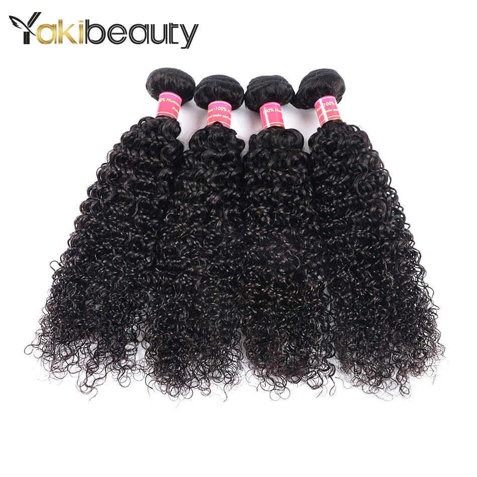 Afro Kinky Curly Hair 4 Bundles Deal Peruvian Curly Human Hair Weave 8-28Inch Remy Hair Extension Natural Color Free Shipping