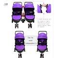 Сплит твин коляски multi ячейки высокого прицел детские коляски twin прогулочная коляска сплит двойной близнецы сидеть плоский складной Ребенок Strolle