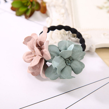 2019 Hot Sale Fashion Elastic Hair Ring Flower Rubber bands Rope Cloth Headbands Ties Accessories for Women & Girls
