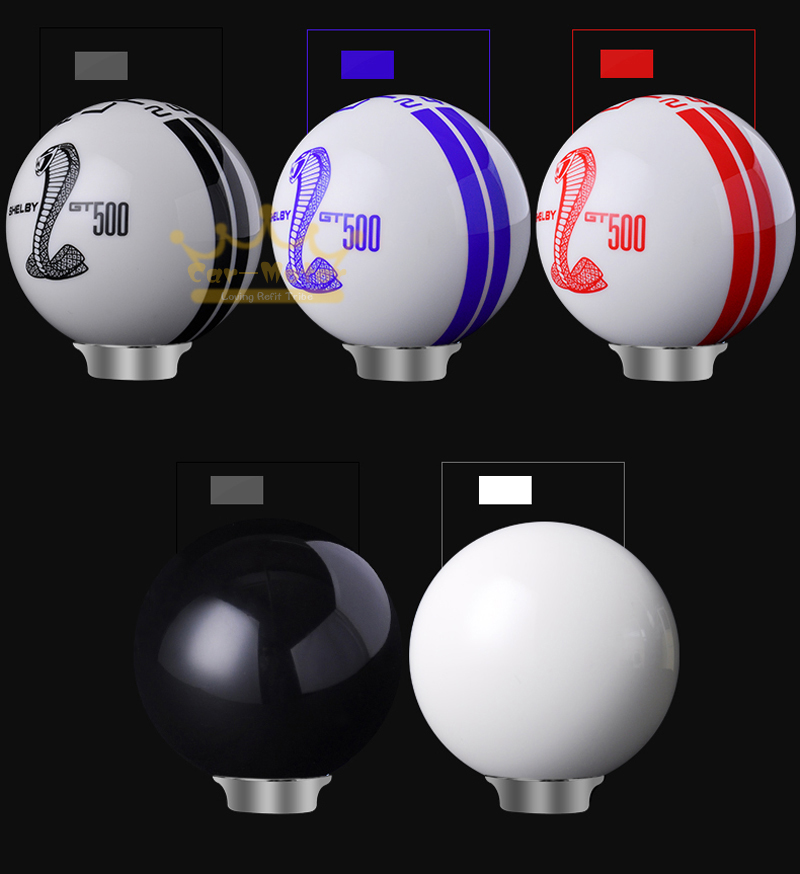 Universal Car Manual Auto Refit Cobra Resin Craft Gear Shifter Lever Shift Knob for Ford Mustang Shelby GT500