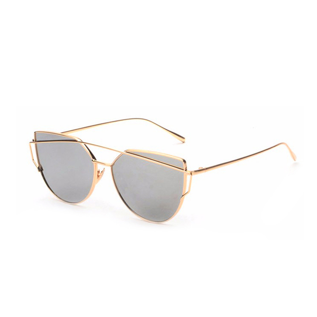 ROYAL GIRL Cat Eye Sunglasses Women Vintage Brand Designer Metal Sun Glasses Female Mirror Unisex Glasses Shades UV400 ss395
