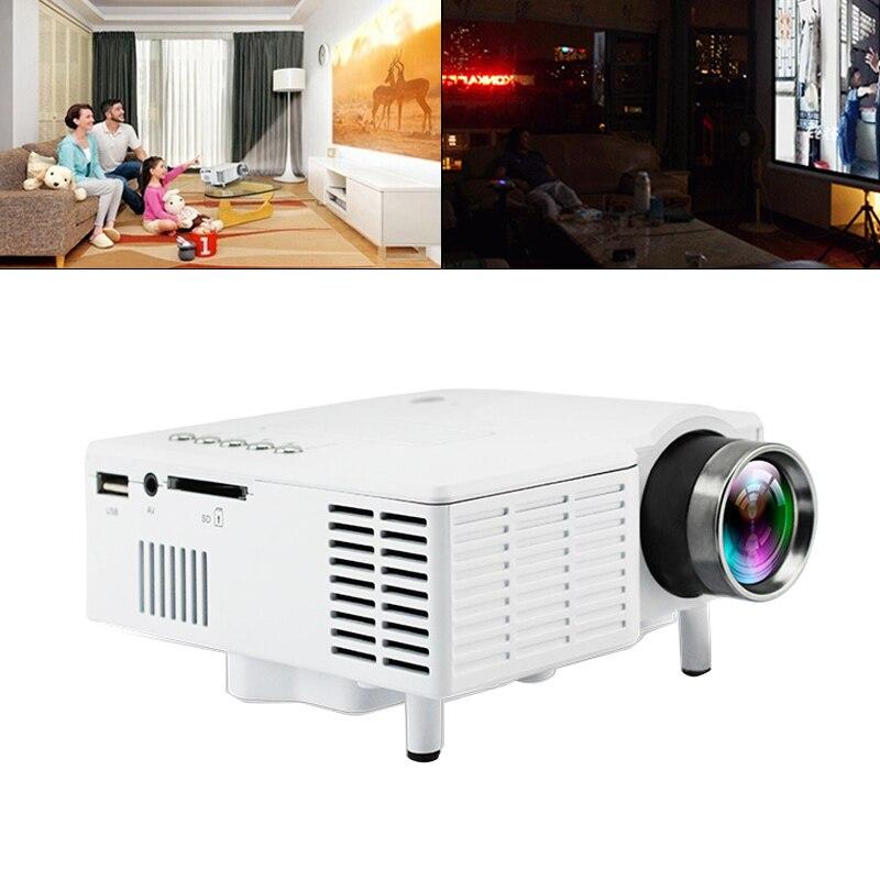 UC28B universel 60 pouces Portable Mini projecteur LED cinéma maison cinéma film vidéo projecteur avec lentille de revêtement de haute précision