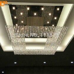 Nowy plac nowoczesny ciąg duże kryształowe żyrandol żyrandol do lobby hotelowego oświetlenie darmowa wysyłka