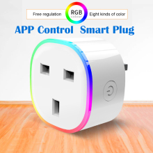 Get more info on the New UK Smart Plug Pop Socket RGB Light Wireless WIFI Remote Smart Home Voice Control Smart Socket Work with Alexa Google Home