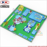Movable inflatable water park for entertianing with water slide frame pool water games