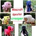 6 шт./лот Minecraft плюшевые игрушки Minecraft овец Enderman кальмар оцелот свинья мягкие плюшевые игрушки совершенная Minecraft кукла детские подарок