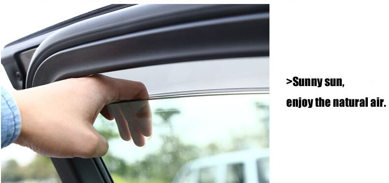 Auto rain shield window visor car window deflector sun visor covers stickers 14