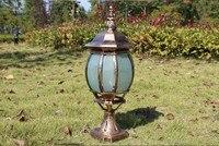 Pillar Light Column Head Lamp Fashion Pumpkin Goalpost Outdoor Waterproof Landscape Lighting Lamp E27 LED Home Decor Fixtures