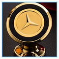 Magnet Mobile Phone Holder Stands for Car for Bike Aluminium Alloy with carving car gold logo for Audi Benz BMW free shipping