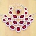 Rojo místico Creado Topaz 925 Pendientes de Plata de La Joyería Para Las Mujeres de La Boda/Colgante/Collar pulseras T055