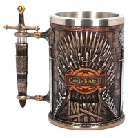 Game of Thrones Iron Throne Tankard Coffee Mugs Stainless Steel Resin Cups and Mugs Creative Drinkware cup